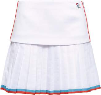 P.E Nation Layered Pleated Jersey And Shell Shorts