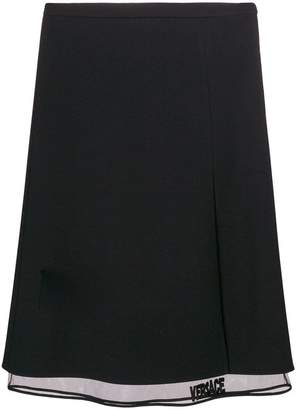 Versace midi layered skirt