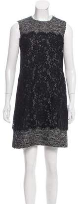 Dolce & Gabbana Tweed and Lace Dress w/ Tags