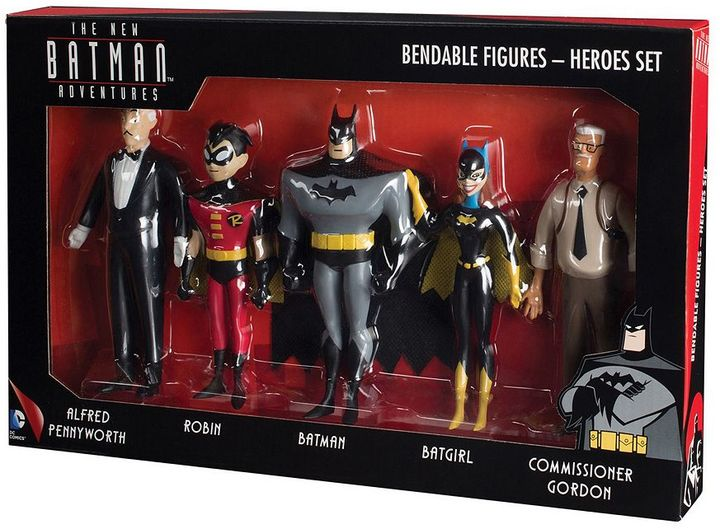 Toysmith DC Comics New Batman Adventures Bendable Action Figure Boxed Set by Toysmith