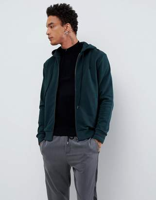 Fred Perry hooded zip thru sweat in green