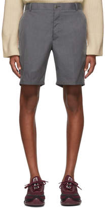 Thom Browne Grey Typewriter Unconstructed Shorts