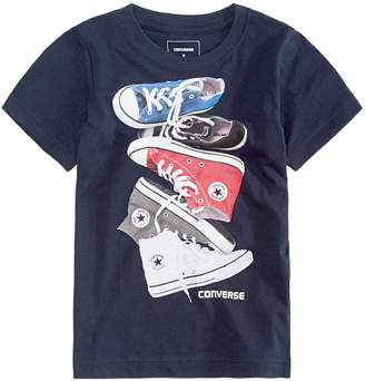 Converse Boys 4-7 Stacked Chucks Graphic Tee