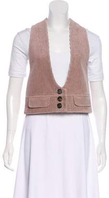 Chloé Corduroy Button-Up Vest