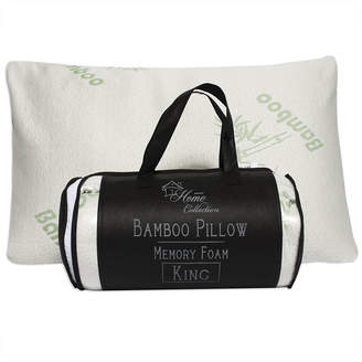 SWEET HOME COLLECTION Sweet Home Collection Hypoallergenic Bamboo Memory Foam Pillow with Carry Bag