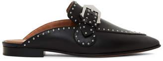 Givenchy Black Elegant Studded Slippers