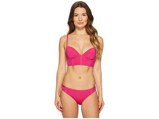 Proenza Schouler Solids Two-Piece Bikini Set w/ Underwire Top, Adjustable Straps Classic Bottom Women's Swimwear Sets