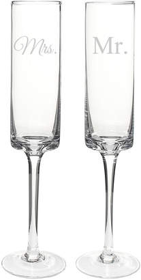 Cathy's Concepts Cathys Concepts Mr. & Mrs. Contemporary Champagne Flutes