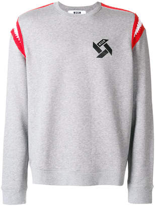 MSGM logo knitted detail sweatshirt