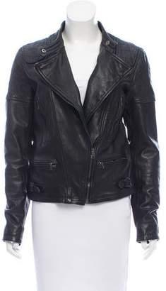 Neil Barrett Zip-Up Leather Jacket