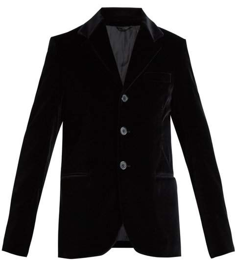 CONNOLLY Single-breasted velvet blazer