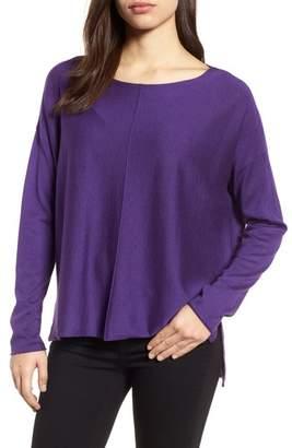 Eileen Fisher Tencel(R) Lyocell Blend High/Low Sweater