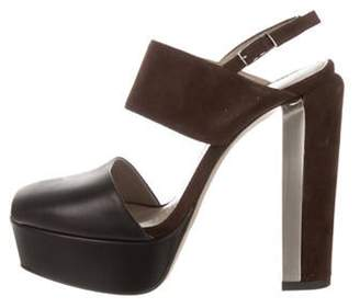 5585ce9e161 Calvin Klein Peep Toe Heel - ShopStyle