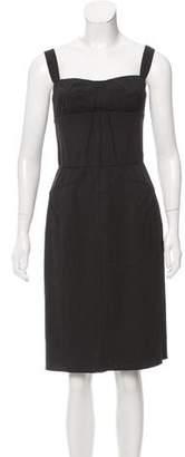 Dolce & Gabbana Sheath Decollete Neck Dress