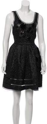 Fendi Mink-Embellished Sleeveless Dress w/ Tags