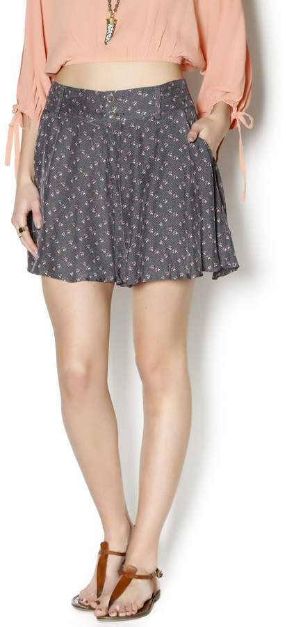 Free People Retro Floral Shorts