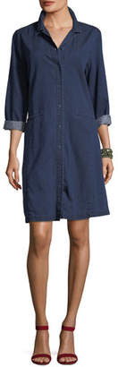 Eileen Fisher Tencel® Organic Cotton Denim Collared Dress