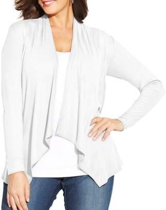 INC International Concepts Plus Draped Cardigan