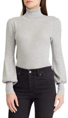 Lauren Ralph Lauren Ribbed Balloon-Sleeve Sweater