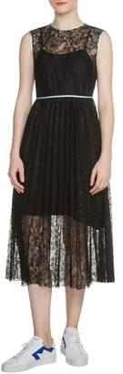 Maje Rabila Lace Midi Dress