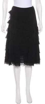 Fuzzi Ruffled Midi Skirt