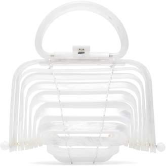 Cult Gaia White Lilleth Mini Acrylic Bag