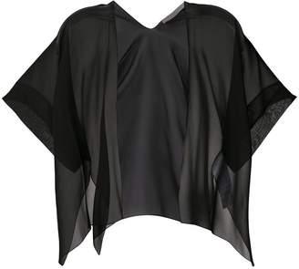 D-Exterior D.Exterior short-sleeve sheer cardigan