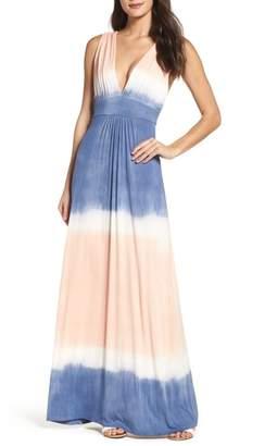 Fraiche by J Tie Dye Sleeveless Maxi Dress