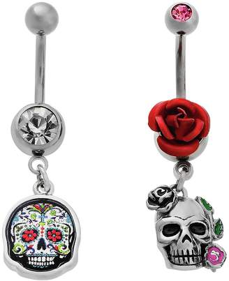 d4bfdb896 at Argos · Body Candy My Stainless Steel CZ Skull Belly Bars