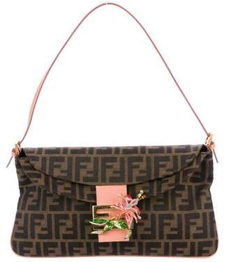 Fendi Zucca Double Flap Bag