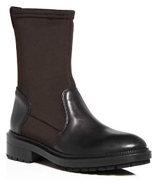Aquatalia Women's Leoda Weatherproof Leather & Neoprene Low-Heel Boots