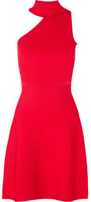 Cushnie et Ochs Vika One-shoulder Stretch-knit Mini Dress - Red