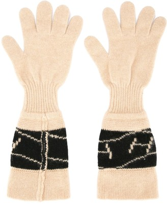 Hermes Pre-Owned logos gloves