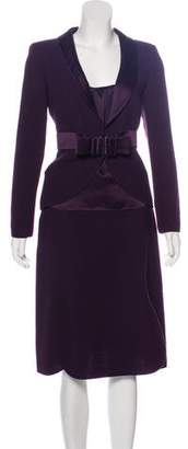 Valentino Virgin Wool Skirt Suit