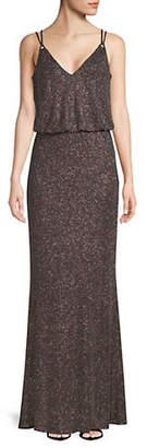 Calvin Klein Metallic Sleeveless Blouson Gown