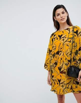 French Connection Balloon Sleeve Velvet Dress