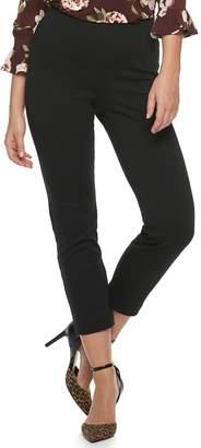 Elle Women's Scallop Pull On Skinny Ankle Pants