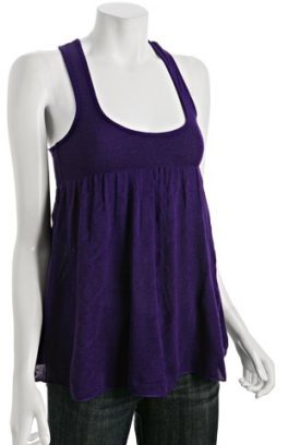 Free People deep purple cotton blend racerback tank