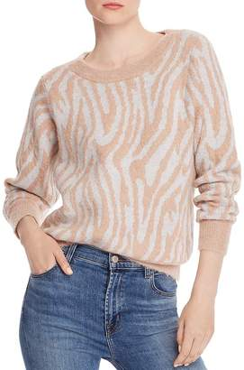 Rebecca Taylor Fuzzy Tiger-Striped Sweater