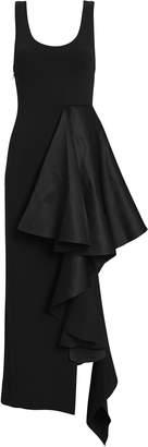 SOLACE London Naya Ruffled Midi Dress