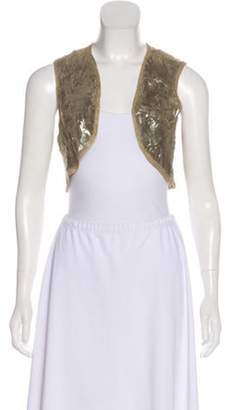 Elizabeth and James Textured Metallic Shrug Gold Textured Metallic Shrug