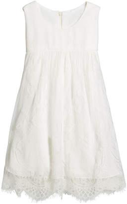 Helena Lace Empire-Waist Sleeveless Dress, Size 7-14