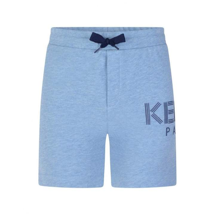 KidsBoys Blue Logo Print Shorts