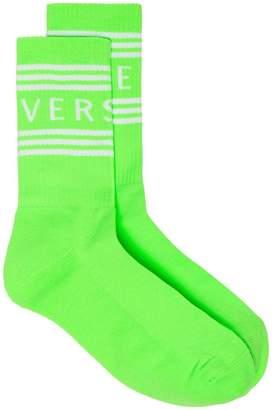 Versace Logo intarsia socks