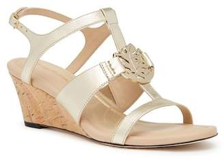 Tommy Bahama Golden Sands Leather Wedge Sandal