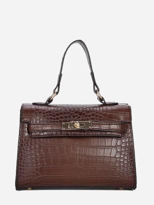 Shein Croc Embossed Satchel Bag