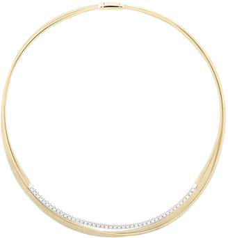 Marco Bicego Yellow Gold and Diamond Three Strand Masai Necklace