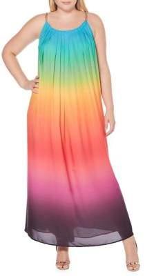 Rafaella Plus Ombre Striped Maxi Dress