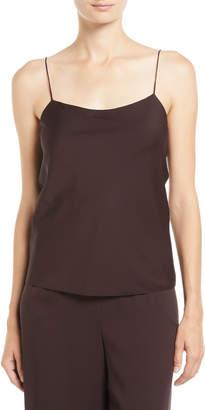 The Row Biggins Scoop-Neck Silk Camisole Top