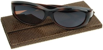 Foster Grant Haven Fits Over Flirty Flower Sunglasses with Protective Case
